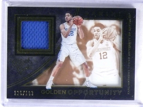 2016 Panini Black Gold Opportunity Karl-Anthony Towns jersey #D126/199 *68807