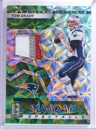 SOLD 15460 2017 Panini Spectra Sunday Spectacle Tom Brady 3 color patch #D04/10 #49 *68851