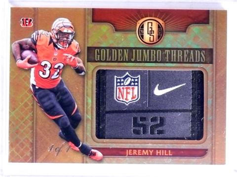 2017 Panini Gold Standard Jumbo Threads Jeremy Hill Tag Patch #D 1/1 *68852