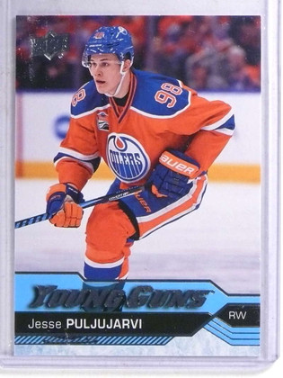 2016-17 Upper Deck Young Guns YG Jesse Puljujarvi rc rookie #225 *68910