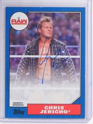 SOLD 15636 2017 Topps WWE Raw Chris Jericho autograph auto #D38/50  *69126