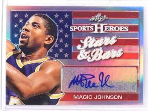 2017 Leaf Metal Sports Heroes Stars Bars Magic Johnson autograph auto *69285