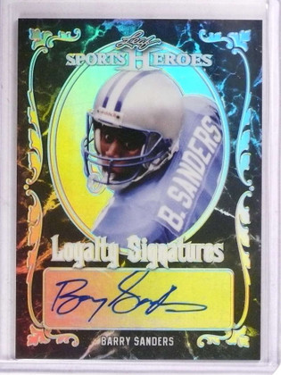 DELETE 15763 2017 Leaf Metal Sports Heroes Loyalty Signatures Barry Sanders autograph *69247