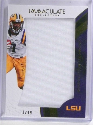 2017 Panini Immaculate Collection Leonard Fournette rookie jersey #D13/49 *69187
