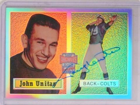 2001 Topps Archives Reserve Johnny Unitas autograph auto #ARA-JU *69621