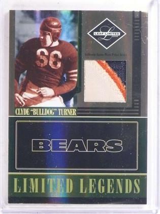 2006 Leaf Limited Legends Clyde Bulldog Turner 3 color patch #D25/25 *69631
