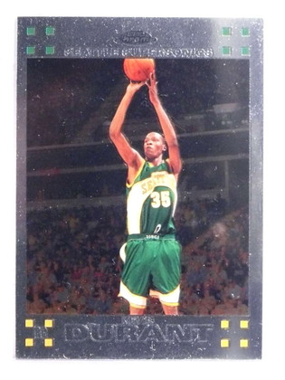 2007-08 Topps Chrome Kevin Durant rc rookie #131 *69632