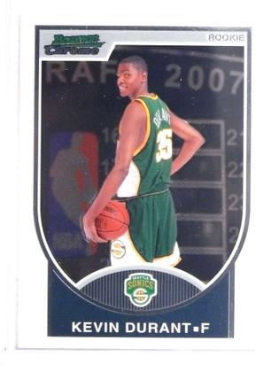 SOLD 16072 2007-08 Bowman Chrome Kevin Durant rc rookie #D2448/2999 #111 *69633