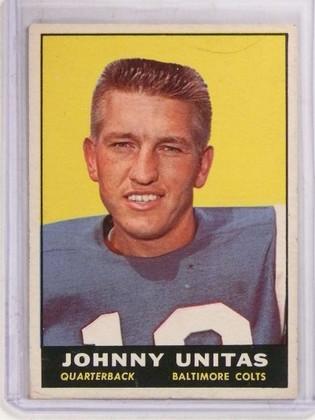 1961 Topps Johnny Unitas #1 VG *69759 ID: 16735