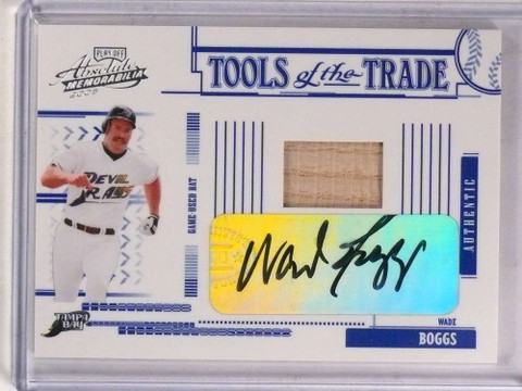 2005 Playoff Absolute Tools Of the Trade Wade Boggs autograph bat /50 *69813