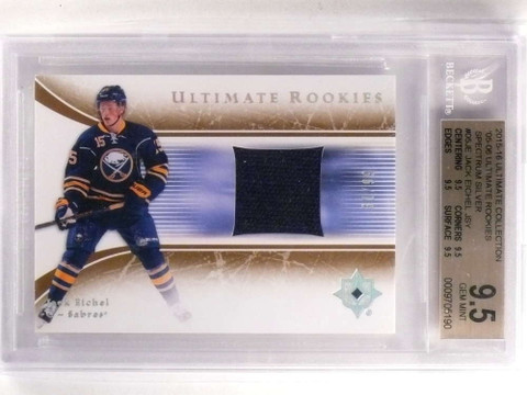 SOLD 17023 2015-16 Ultimate Collection Silver Jack Eichel rookie jersey /99 BGS 9.5 *69941