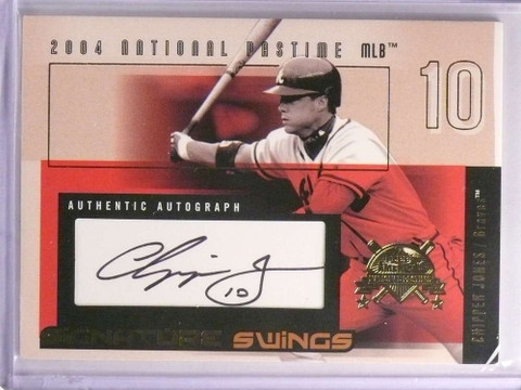SOLD 17102 2004 Fleer National Pastime Signature Swings Chipper Jones autograph /116 *70051