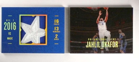 2016-17 Panini Preferred Jahlil Okafor 2clr patch book #D08/25 *70112