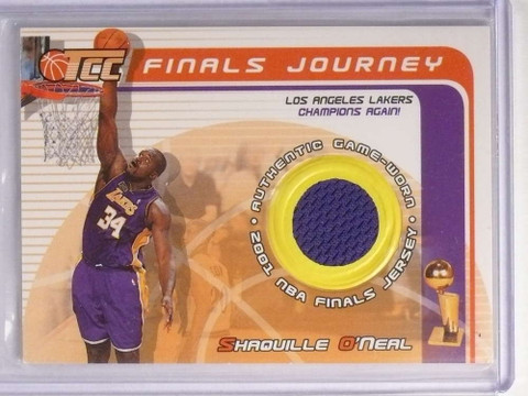 2001-02 Topps TCC Finals Journey Shaquille O'Neal Finals Jersey #FJSO *70231