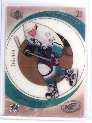 SOLD 17946 2005-06 Upper Deck Ice Ryan Getzlaf Rookie RC #D565/999 #107 *70906