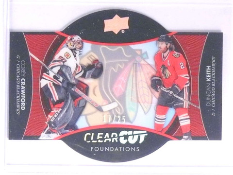 2017-18 Upper Deck ClearCut Foundations Corey Crawford Duncan Keith /25 *71077