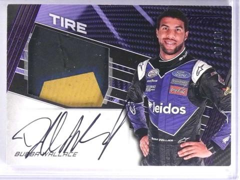 SOLD 18488 2017 Panini Torque Purple Bubba Wallace Tire Autograph auto #D09/10 *71358
