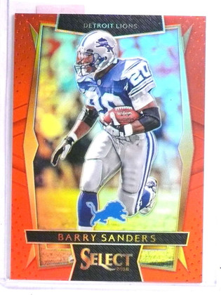 2016 Panini Select Prizms Red Barry Sanders #D38/99 #8 *71538