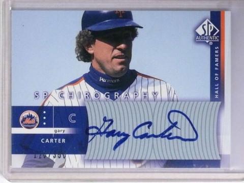 2003 Sp Chirography Gary Carter autograph auto #D126/350 #GC1 *72013