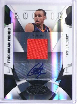 SOLD 19226 2009-10 Panini Certified Stephen Curry autograph auto jersey rc #D325/399 *71891