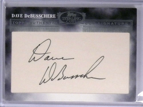 SOLD 19228 2006 Topps Sterling Cuts Dave Debusschere autograph auto #Cut-80 sp! *71952