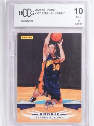 2009-10 Panini Stephen Curry rc rookie #357 BCCG 10 *71875
