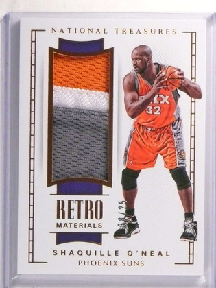 2017-18 National Treasures Retro Materials Shaquille O'neal patch #D08/25 *72294