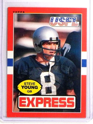 1985 Topps USFL Steve Young #65 Second Year Card *72286