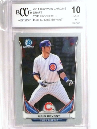 2014 Bowman Chrome Draft Top Prospects Kris Bryant rc rookie BCCG 10 *72470