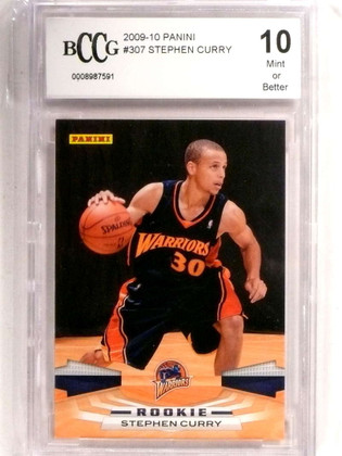 2009-10 Panini Stephen Curry rc rookie BCCG 10 Mint or Better Warriors *72722