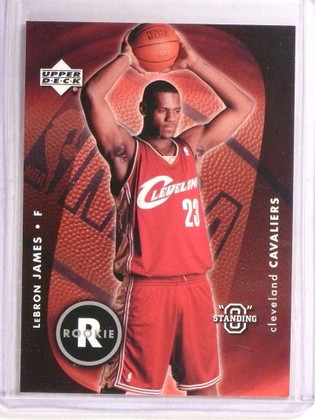"""2003-04 Upper Deck Standing """"O"""" Lebron James rc rookie #85 *72783"""
