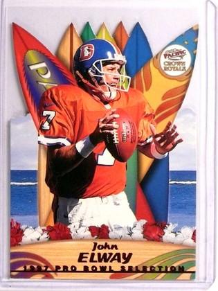 1997 Pacific Crown Royale Pro Bowl Selection Diecuts John Elway #5 *72939