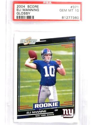 2004 Score Glossy Eli Manning rc rookie #371 PSA 10 GEM MINT Giants *63834