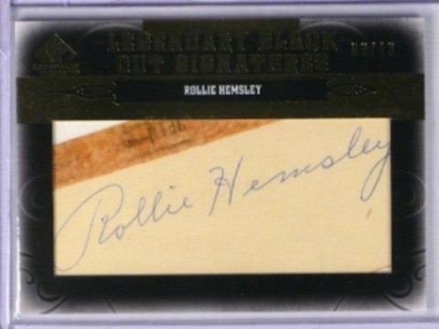 2011 Sp Legendary Cuts Black Rollie Hemsley auto autograph #D03/13 *33183