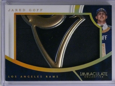 SOLD 7739 2016 Panini Immaculate Hats Jared Goff Rookie Hat Patch #D4/4 #JG *65146