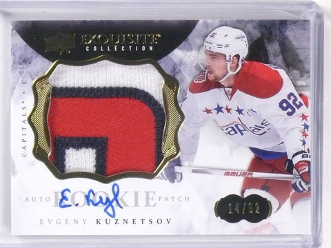 DELETE 11554 2014-15 UD The Cup Exquisite Evgeny Kuznetsov autograph patch rc #D14/92 *56379