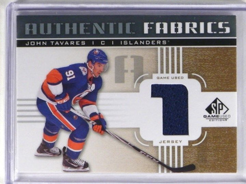 DELETE 1160 11-12 Sp Game Used Authentic Fabrics John Tavares jersey #AF-JT *36442
