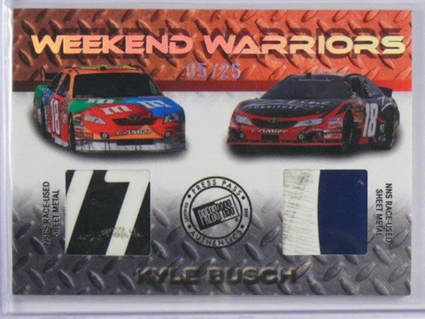 2010 Press Pass Stealth Weekend Warriours Kyle Busch Sheet metal #D05/25 *37292