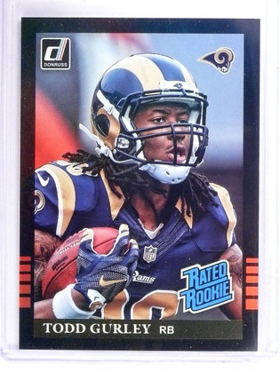SOLD 11620 2015 Donruss Rookie Throwbacks '85 Todd Gurley Rookie RC #10 *61999