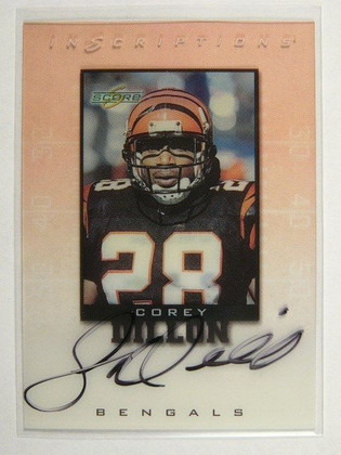 SOLD 8570 1999 Score Inscriptions Corey Dillon auto autograph #CD-28 *31594