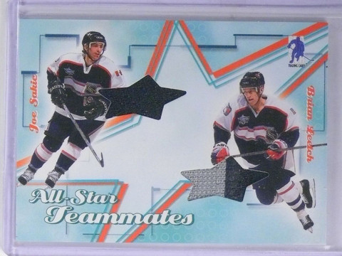 2003-04 BAP Memorabilia Joe Sakic Brian Leetch All-Star Teammates Jersey sp/30 *