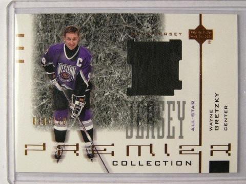 SOLD 8812 01-02 UD Premier Wayne Gretzky Black jersey #D30/150 *31411