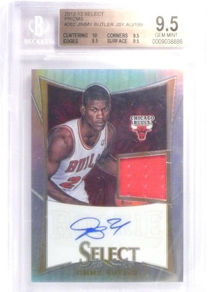 2012-13 Select Jimmy Butler Rookie Jersey Autograph #D073/199 BGS 9.5 10  *6157