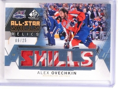 SOLD 8836 15-16 Sp Game Used All-Star Skills Relics Alex Ovechkin patch #D06/25 *53407
