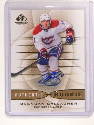 13-14 SP Game Used Brendan Gallagher Autograph Auto Rookie RC #181 *44866