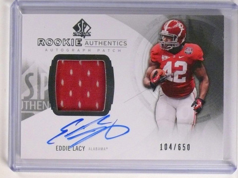 2013 Sp Authentic Eddie Lacy autograph auto patch rc #D104/650 #177 *51711