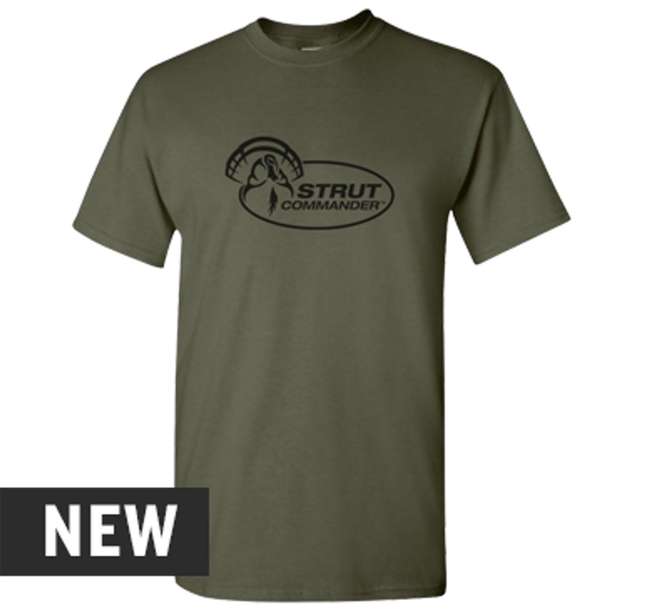 Strut Commander Military Green T-Shirt