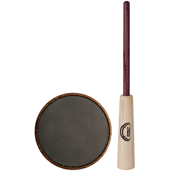 Size doesn't always matter - our Lil Ole Scratch packs a big punch for a small call. This slate pot call features a smaller, hand-turned walnut wood pot, a slate surface and a 2-piece purple heart wood striker. It's great for early morning tree yelps as it can be quiet and soft, and it fits great in your vest thanks to it's smaller size.