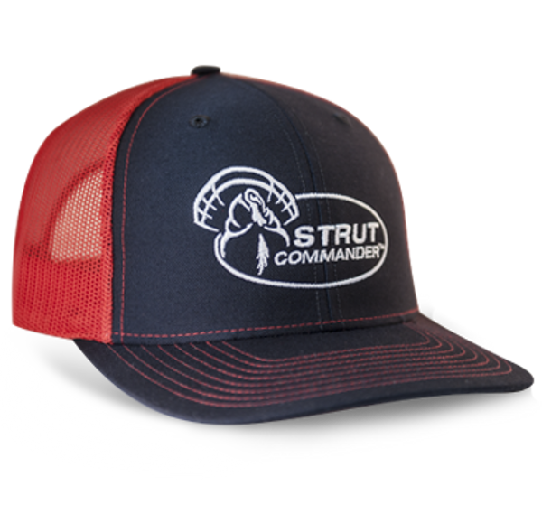 Strut Commander Navy and Red Mesh Richardson Hat