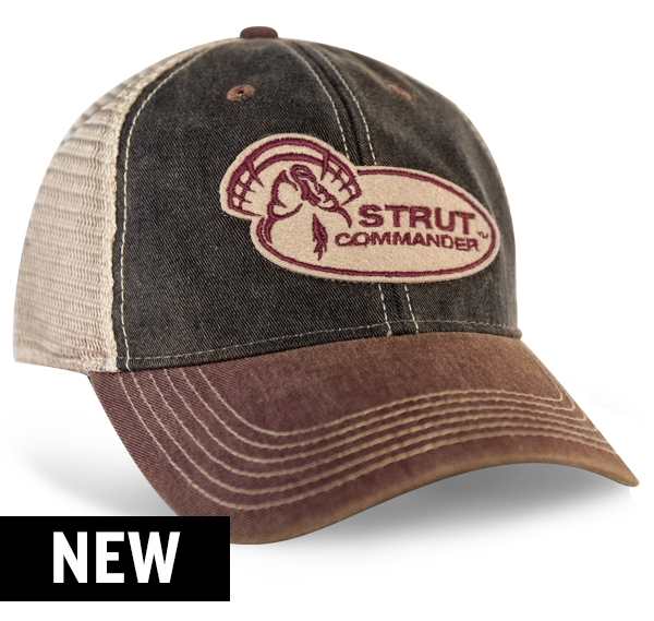 Strut Commander Black and Scarlet Trucker